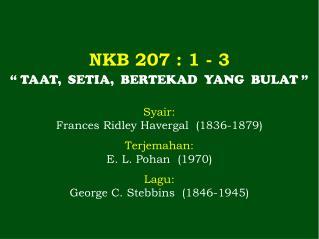 NKB 207  : 1 -  3