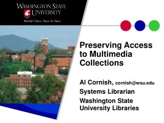 Preserving Access to Multimedia Collections