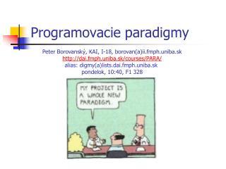 Programovacie paradigmy