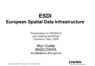 ESDI European Spatial Data Infrastructure