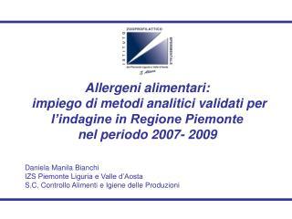 Daniela Manila Bianchi IZS Piemonte Liguria e Valle d'Aosta