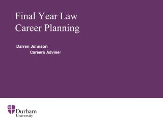 Final Year Law Career Planning