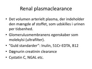 Renal plasmaclearance