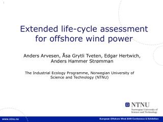 Extended life-cycle assessment for offshore wind power