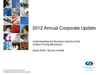 2012 Annual Corporate Update