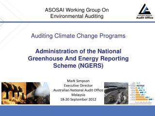 ASOSAI Working Group On Environmental Auditing