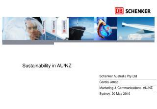 Environmental Sustainability at DB Schenker