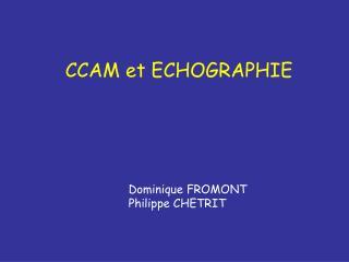 CCAM et ECHOGRAPHIE