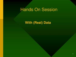 Hands On Session