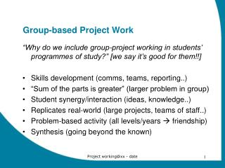 Group-based Project Work