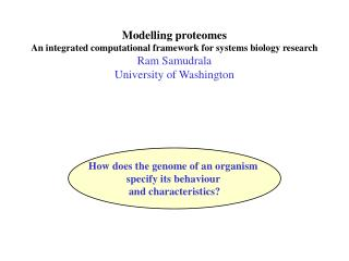 Modelling proteomes An integrated computational framework for systems biology research