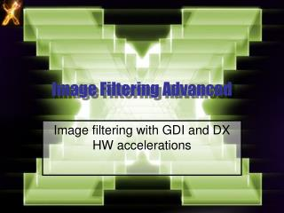 Image Filtering Advanced