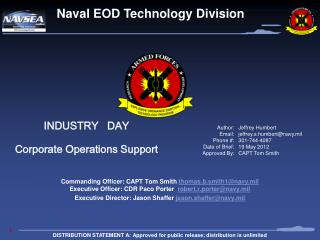 INDUSTRY   DAY Corporate Operations Support