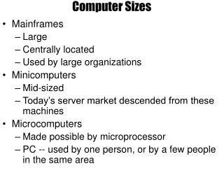 Computer Sizes