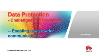 Data Protection - Challenges and Solutions