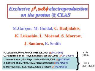 M.Garçon, M. Guidal, C. Hadjidakis,    K. Lukashin, L. Morand, S. Morrow,