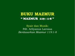 BUKU MAZMUR