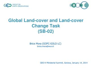 Global Land-cover and Land-cover Change Task  (SB-02)