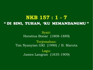 NKB 157  : 1 -  7