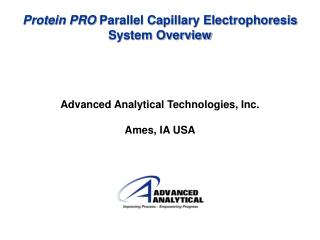 Protein PRO  Parallel Capillary Electrophoresis System Overview