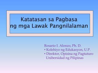 Katatasan sa Pagbasa ng mga Lawak Pangnilalaman