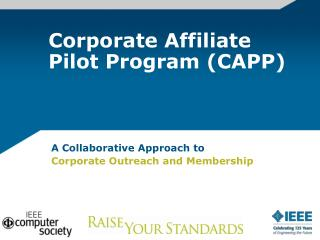 Corporate Affiliate Pilot Program (CAPP)