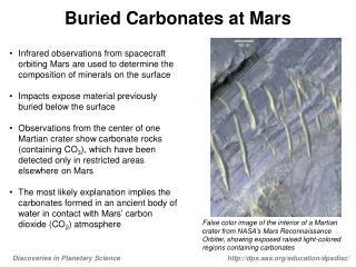 Buried Carbonates at Mars