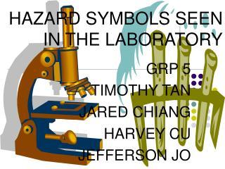 HAZARD SYMBOLS SEEN IN THE LABORATORY