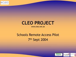 CLEO PROJECT cleo.uk