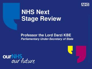 NHS Next  Stage Review