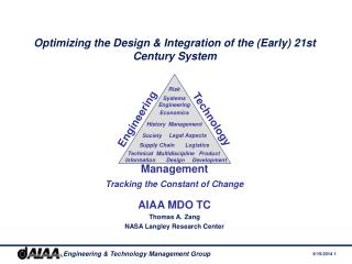 Optimizing the Design & Integration of the (Early) 21st Century System