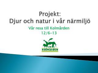 Projekt: Djur och natur i vår närmiljö