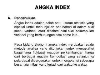 ANGKA INDEX