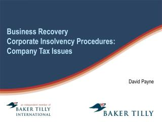 Business Recovery Corporate Insolvency Procedures: Company Tax Issues