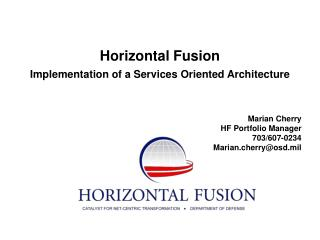 Horizontal Fusion Implementation of a Services Oriented Architecture