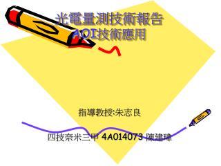 光電量測技術報告 AOI 技術應用