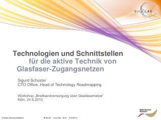 Technologien und Schnittstellen für die aktive Technik von      Glasfaser-Zugangsnetzen