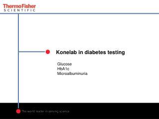 Konelab in diabetes testing