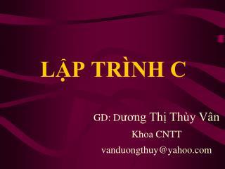 L?P TR�NH C