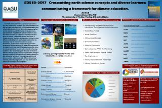 ED51B- 0597   Crosscutting earth science concepts and diverse learners: