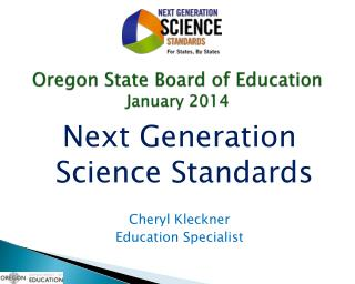 Oregon State Board of Education January 2014