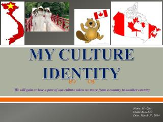MY CULTURE IDENTITY