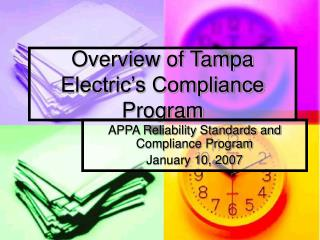 Overview of Tampa Electric�s Compliance Program