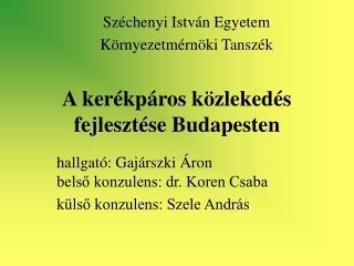 A kerékpáros közlekedés fejlesztése Budapesten
