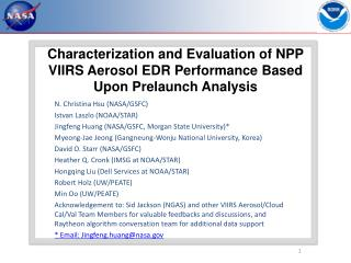 Characterization and Evaluation of NPP VIIRS Aerosol EDR Performance Based Upon Prelaunch Analysis