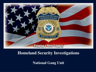Homeland Security Investigations National Gang Unit