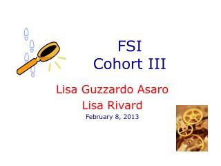 FSI  Cohort III