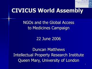 CIVICUS World Assembly