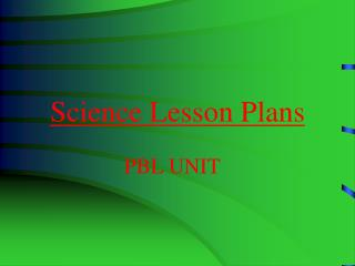 Science Lesson Plans