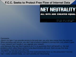 F.C.C. Seeks to Protect Free Flow of Internet Data